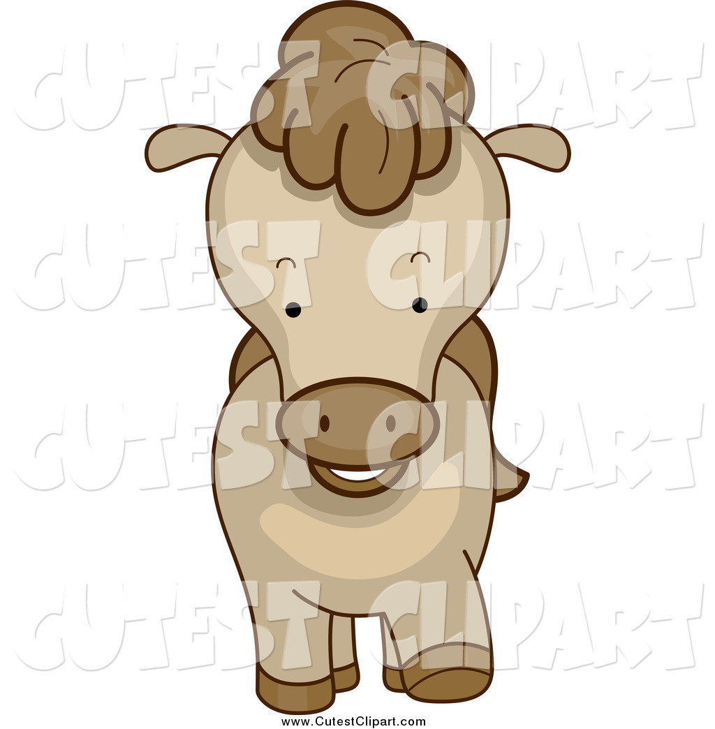 1024x1044 Cartoon Vector Clip Art Of A Cute Brown Pony From The Front By Bnp