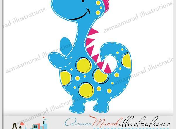 600x440 Cute Dinosaur 12152349 Pink Girl Dinosaur Animal Vector