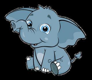 319x276 Cute Baby Elephant Clip Art Clipart
