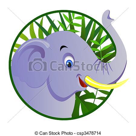 450x450 Cute Elephant Eps Vector