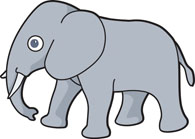 195x139 Free Elephant Clipart