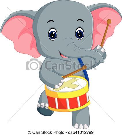423x470 Illustration Of Cute Elephant Cartoon Eps Vectors