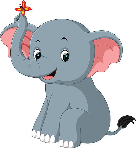 564x612 Luxury Cute Elephant Clipart Royalty Free Cartoon A Elephant Trunk