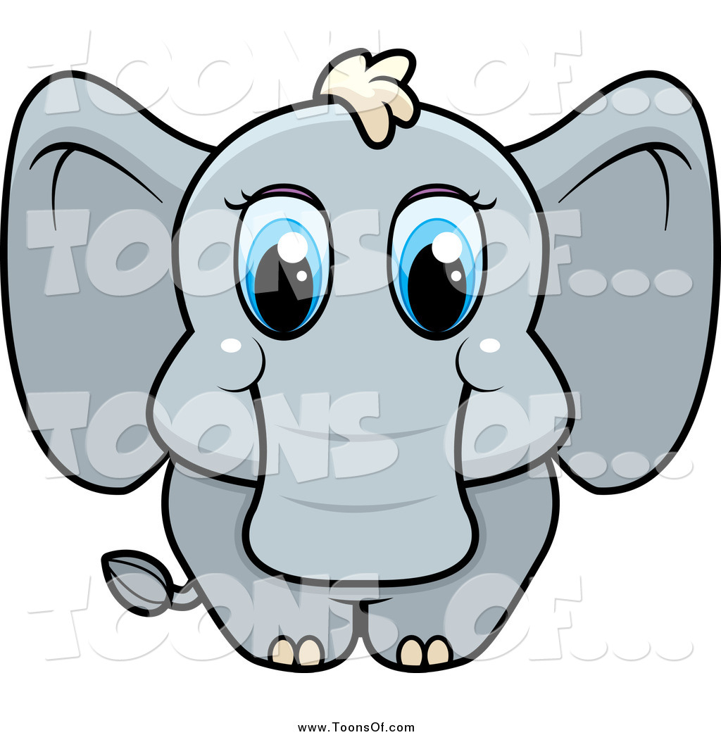 1024x1044 Clipart Of A Cute Baby Elephant With Big Blue Eyes By Cory Thoman