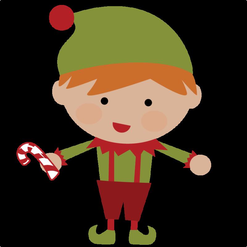 800x800 Cute Christmas Elves Clipart