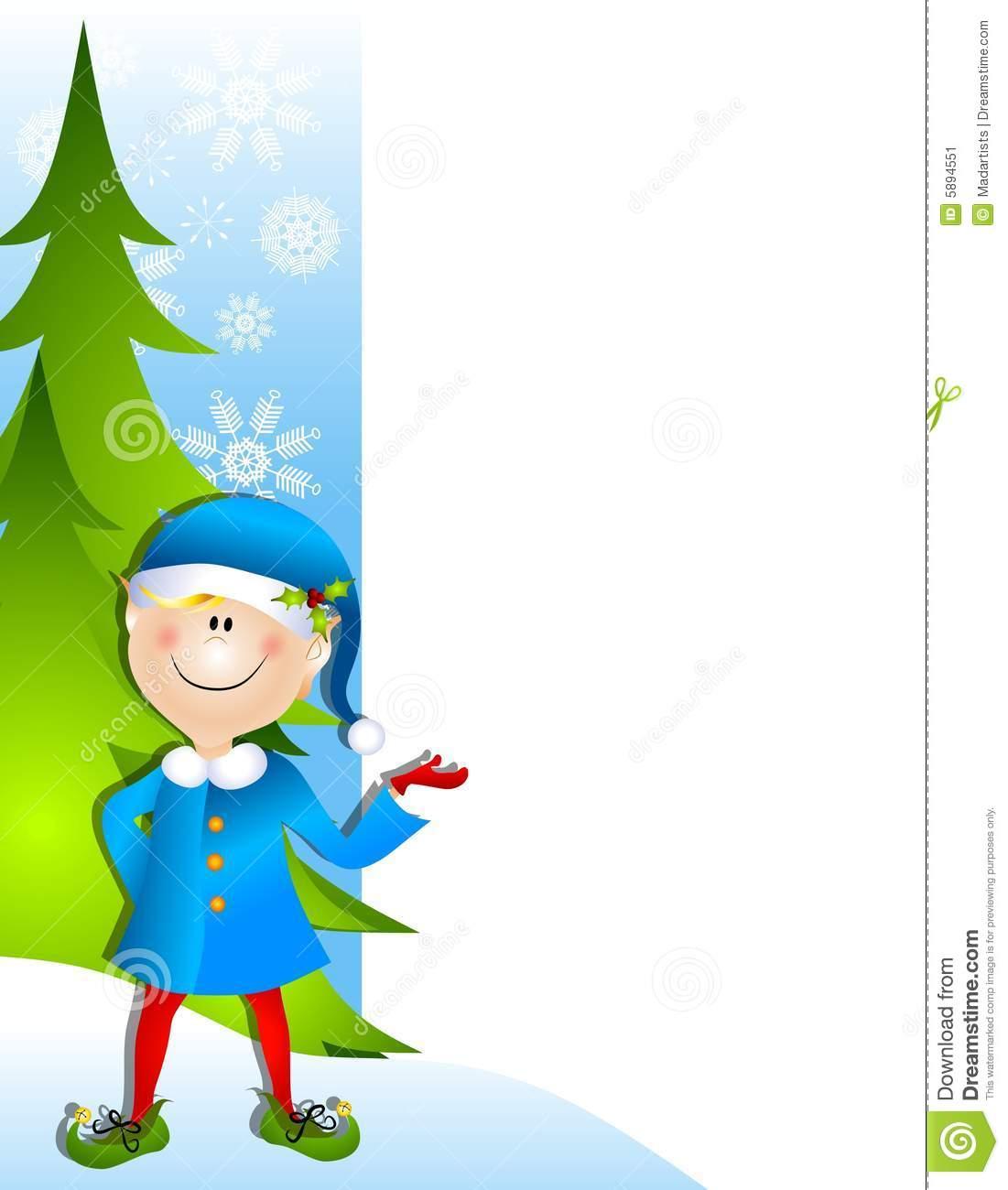 1101x1300 Cute Elf Border Merry Christmas Amp Happy New Year Arts