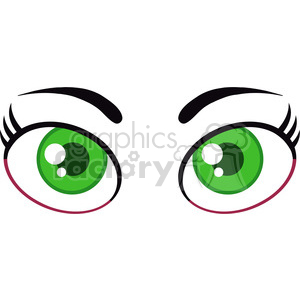 300x300 Green Eyes Clipart Cartoon