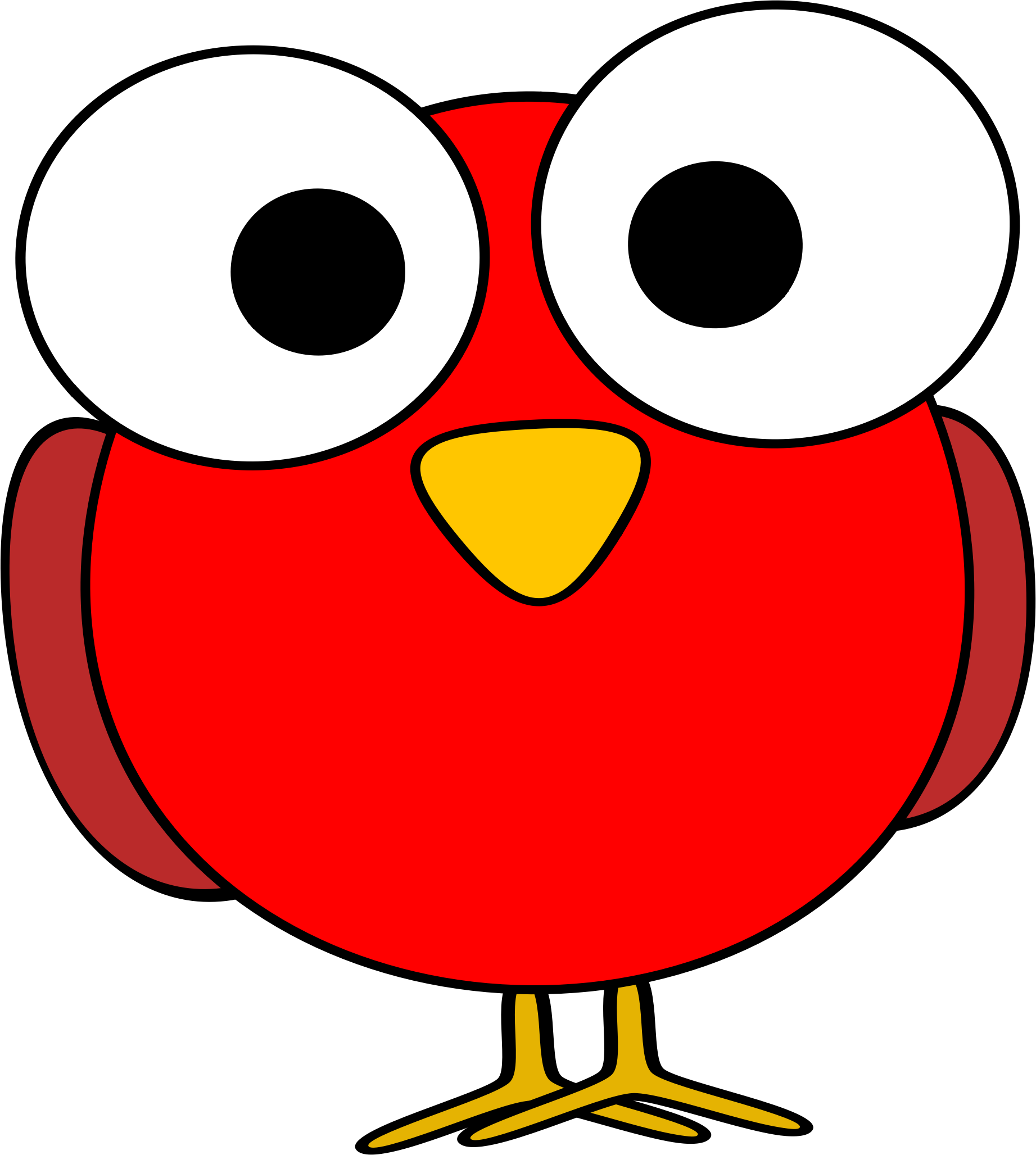 1843x2055 Clip Art Bird Eyes Clipart Red Googley Eye