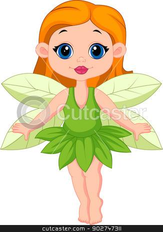 326x464 Cute Fairy Cartoon Stock Vector