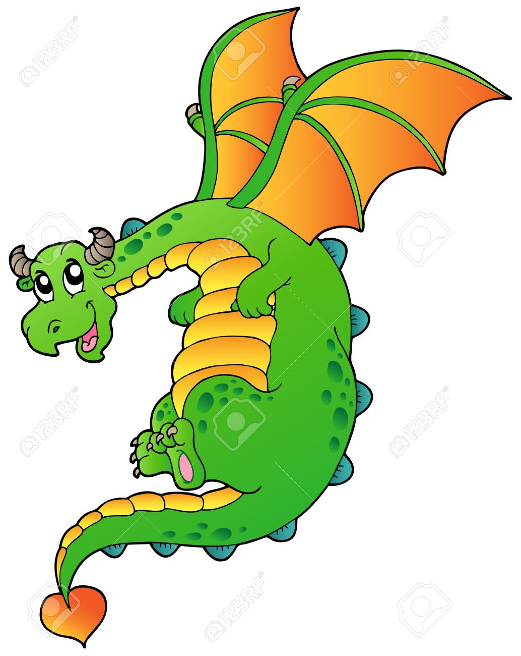 1034x1300 Fairy Tale Clipart Cute Dragon