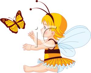 300x242 Cute Fairy With A Monarch Butterfly