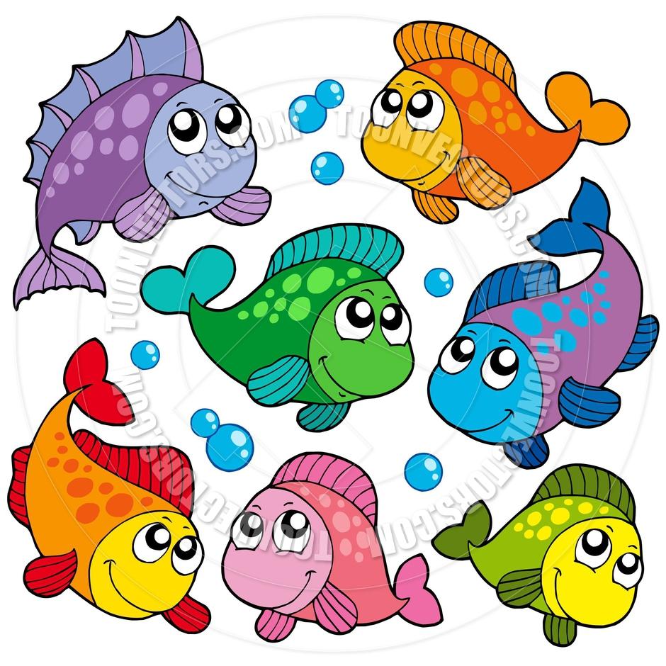 940x940 Nice Cute Fish Clipart Vector Illustration Of Cartoon Waving Clip