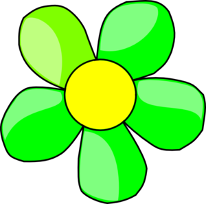 300x297 Green Flower Clip Art