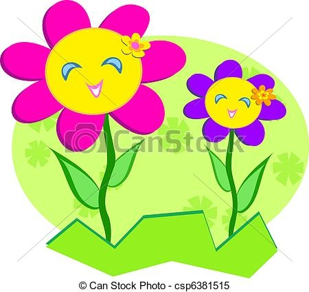 450x424 Happy Flower Clip Art Free