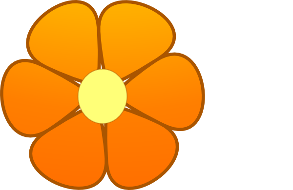 600x390 Orange Flower Clip Art
