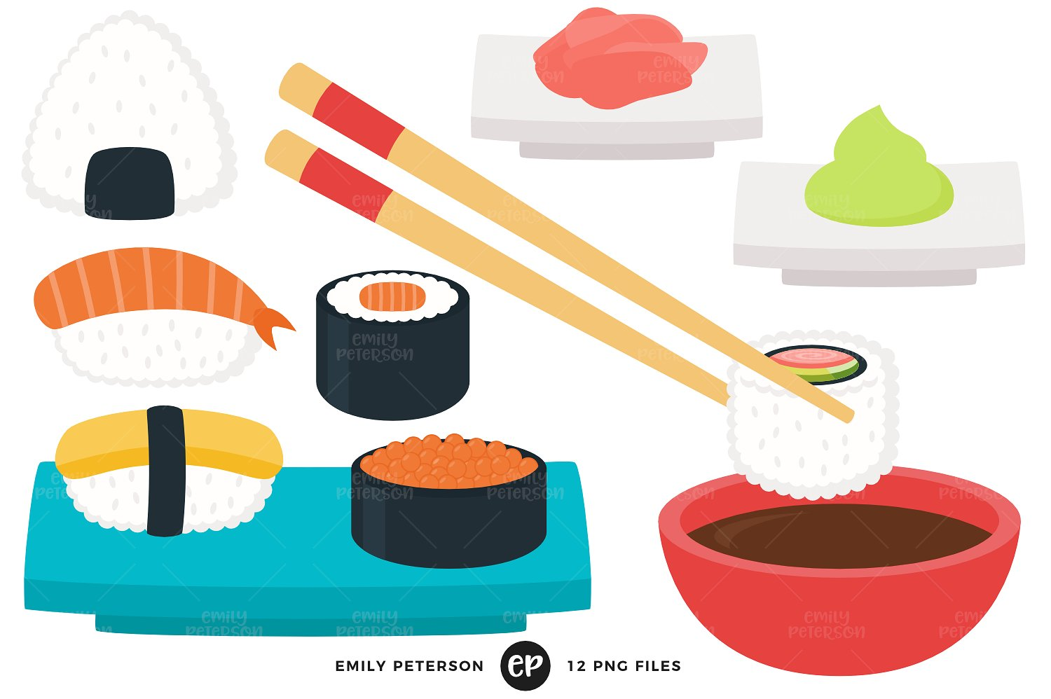 1500x998 Extremely Inspiration Sushi Clip Art