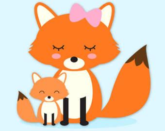 340x270 Fox Clipart Baby Fox Clip Art Cute Fox Clipart Forest Animal