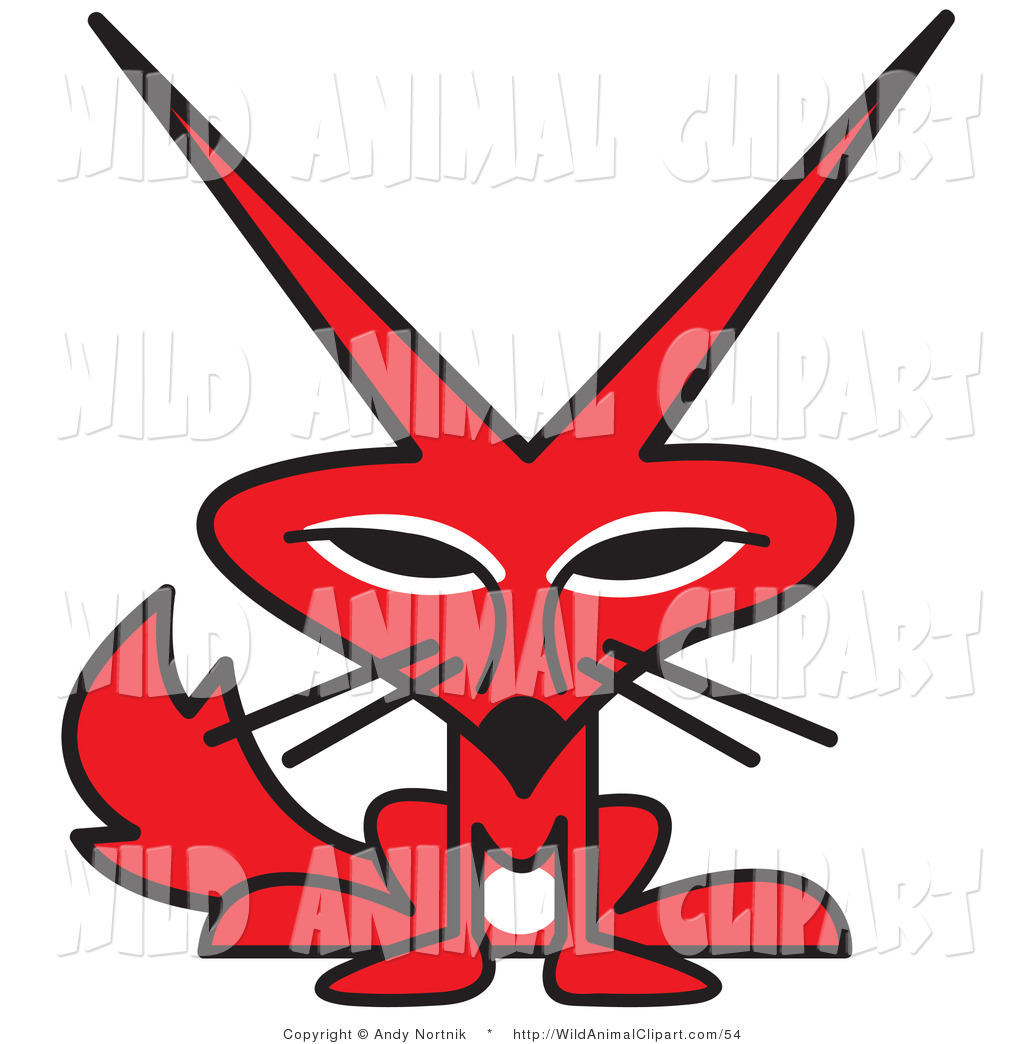 1024x1044 Clip Art Of A Cute Red Fox With A White Belly And Big Pointy Ears