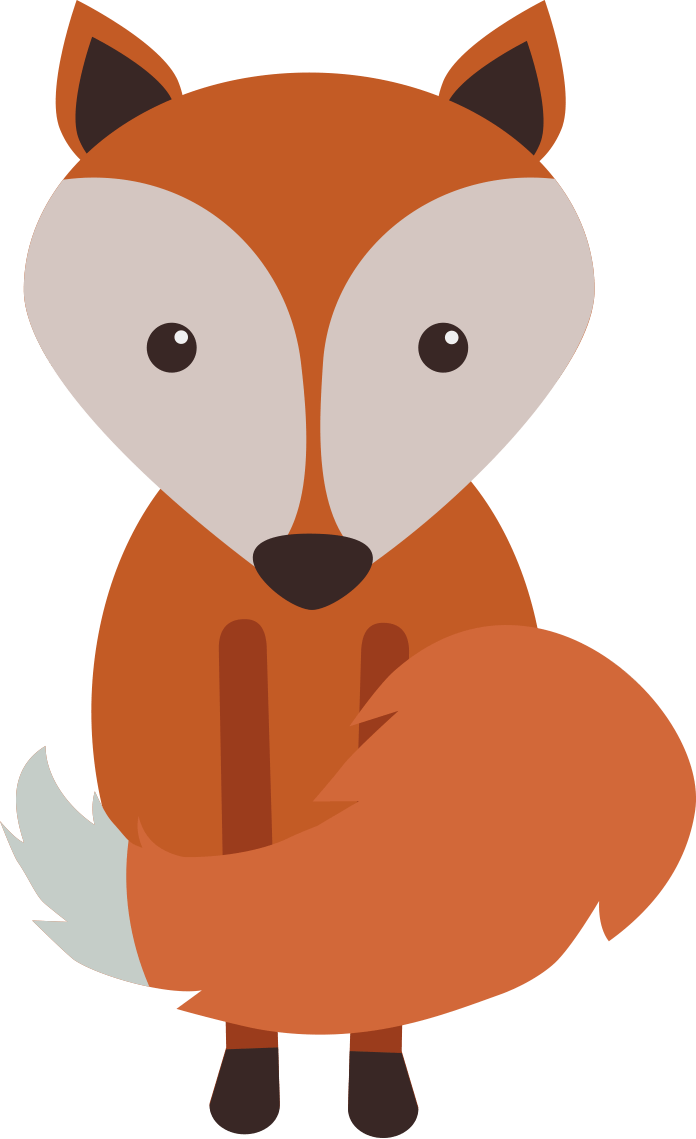 696x1139 Cute Animals Woodland Clipart Set Clip Art Department