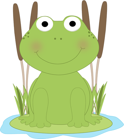 400x448 Cute Frog Clipart Frog In A Pond Clip Art Frog In A Pond Image
