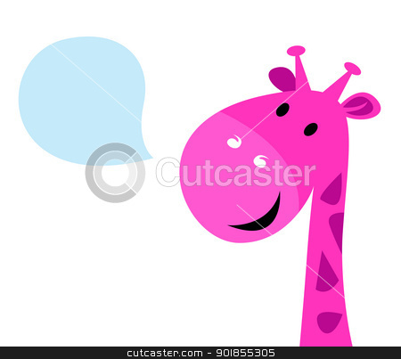 450x403 Cute Pink Giraffe Clipart