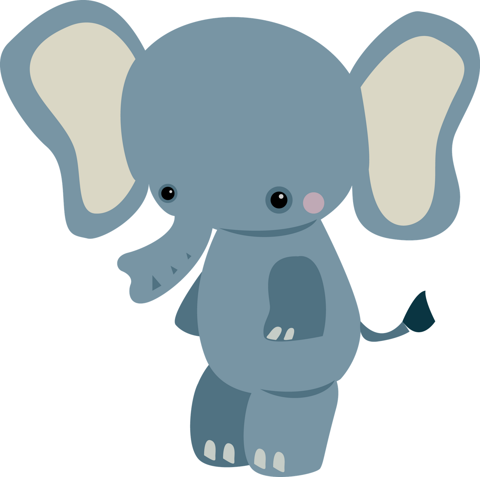 1600x1588 Baby Animal Clipart Small Elephant