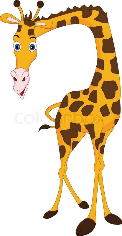 414x800 Cute Giraffe Cartoon Stock Vector Colourbox
