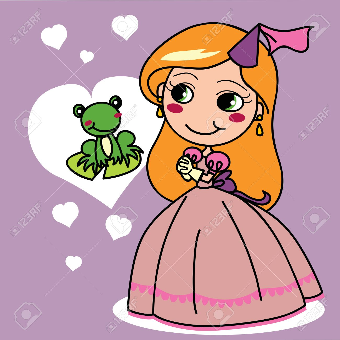 1300x1300 Clipart Girl Kiss A Prince Frog