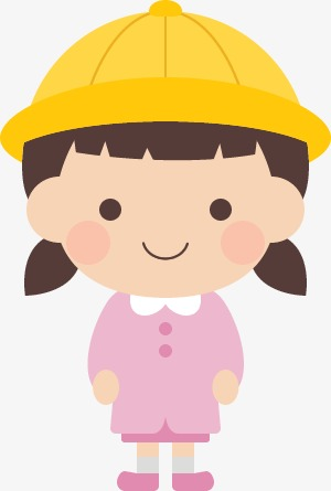 300x445 Cute Girl, Girl With Hat, Cute Little Girl, Cartoon Girl Png Image