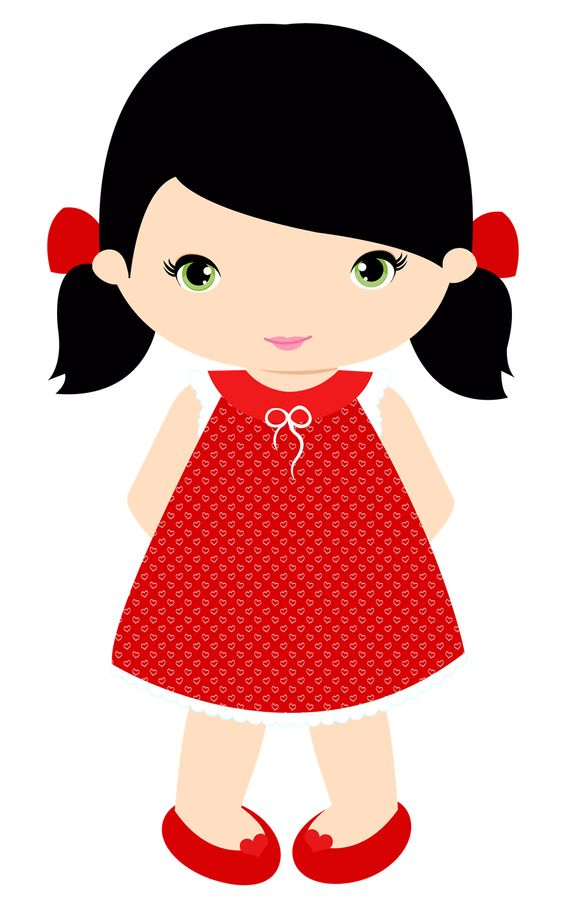 564x916 Clipart little girls
