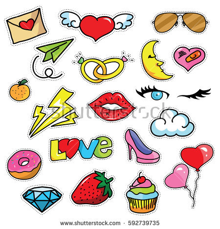 450x470 Cute Girly Clipart
