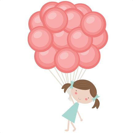 432x432 28+ Collection of Girl Holding Balloons Clipart High quality