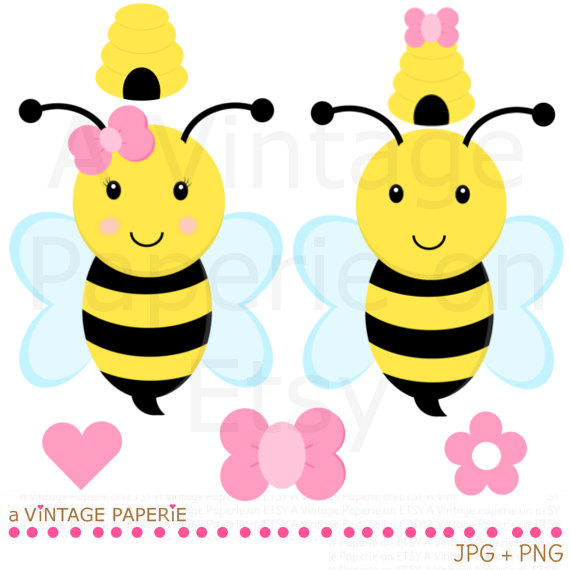 570x570 Girl clipart bumble bee