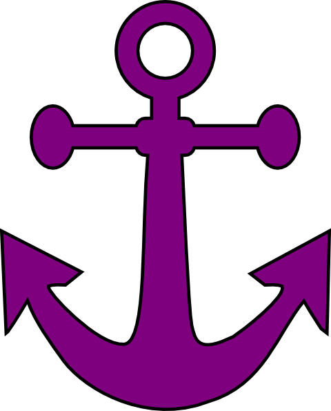 480x595 Purple Anchor Clip Art