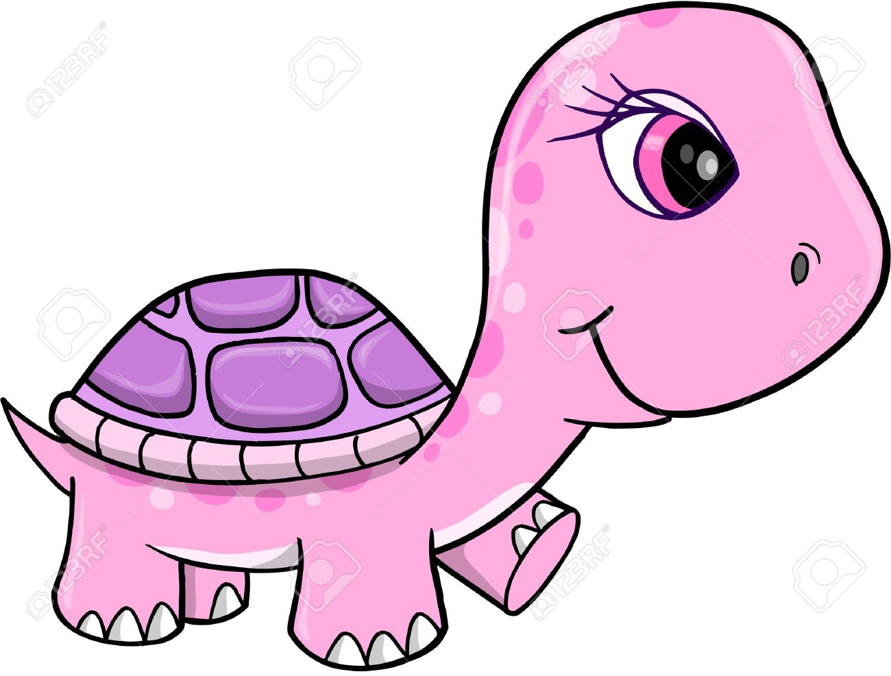 1300x987 cute girl turtle clipart