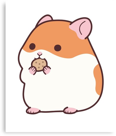 466x550 Cute Hamster Emoji Funny Novelty Tee Canvas Prints By