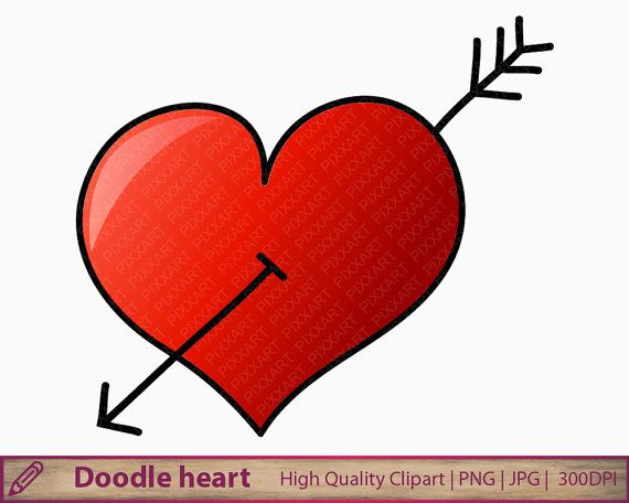 570x456 Doodle Heart Clipart, Hand Drawn Heart Clip Art, Cute Love