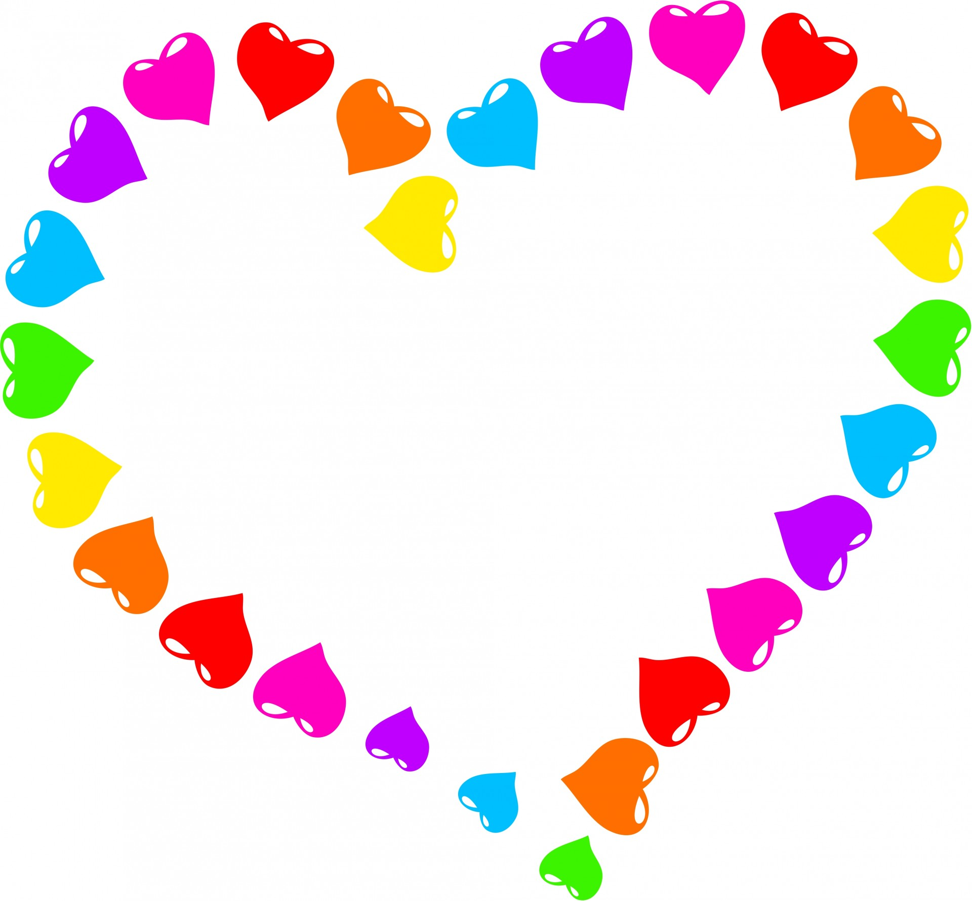 1920x1781 Rainbow Heart Clipart Free Stock Photo