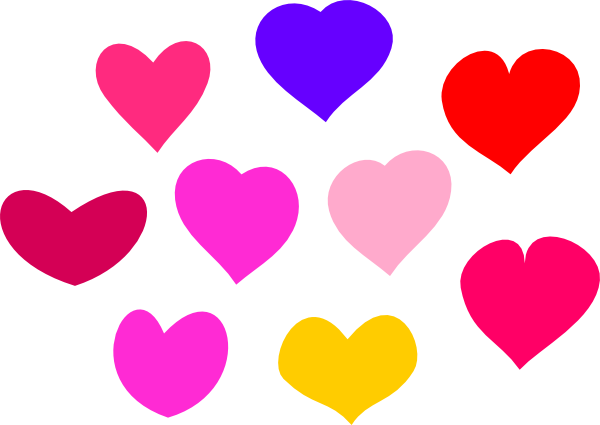 600x425 Bundle Of Hearts Clip Art