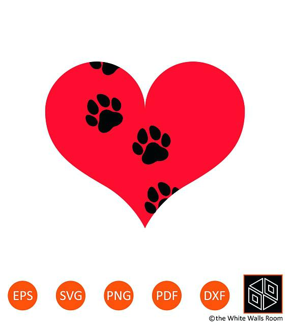 570x653 Cat Prints Clip Art Awesome Heart Paw Print Clip Art Cat Paw Stock