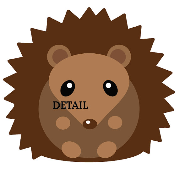 570x570 Cute Woodland Hedgehog Clipart