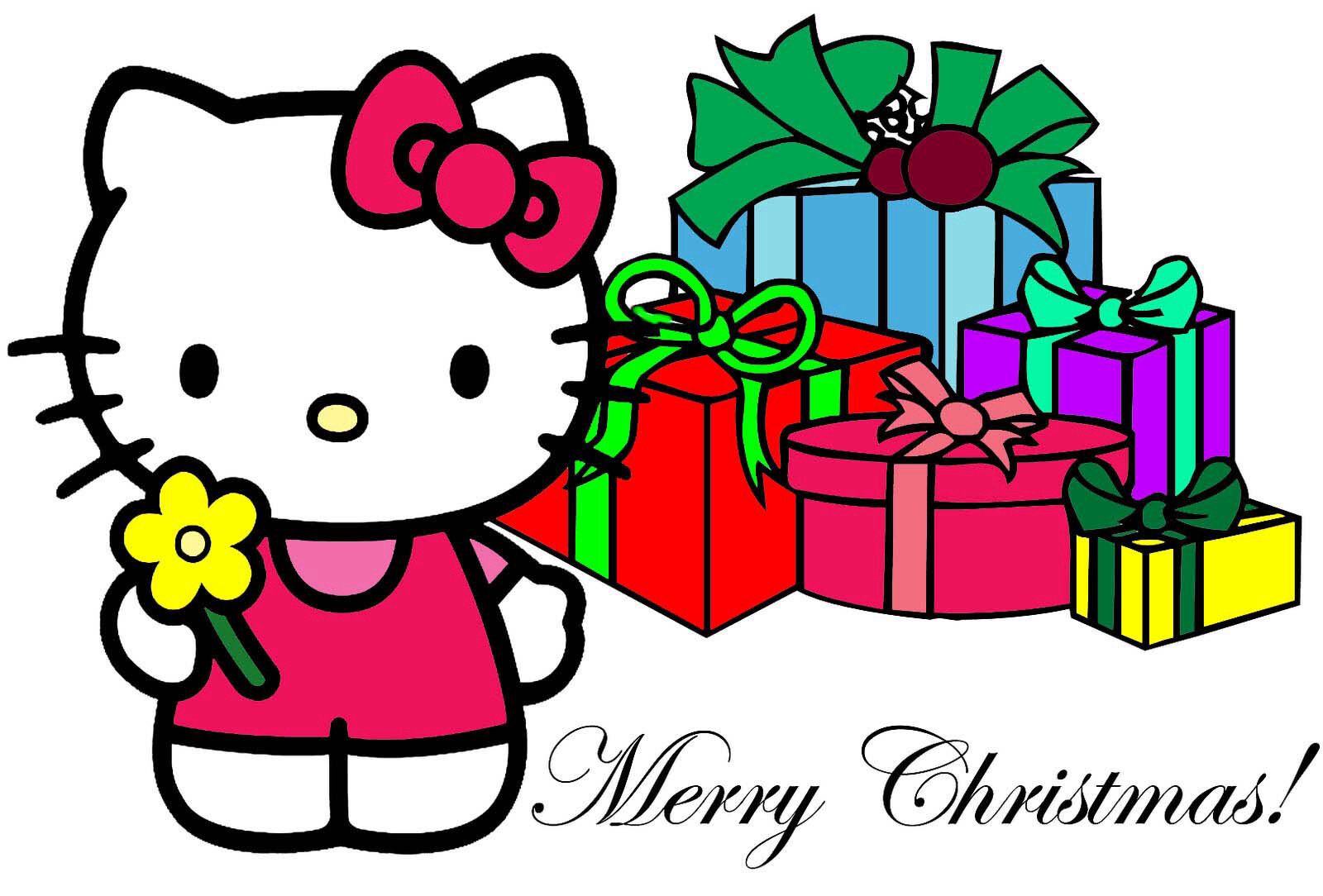 1600x1084 Collection Of Hello Kitty Clipart Christmas High Quality