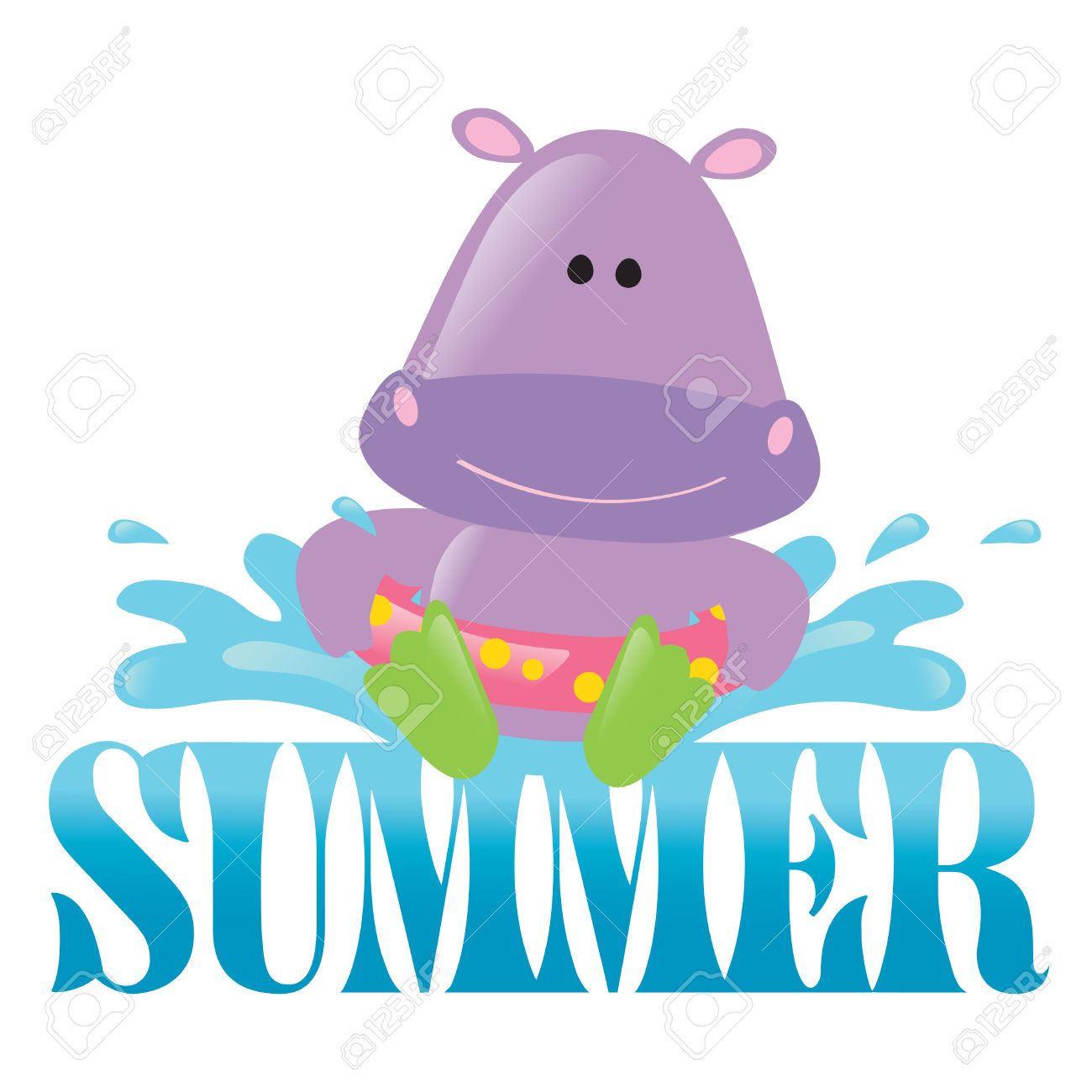 1300x1300 Pool Hippo Clipart, Explore Pictures