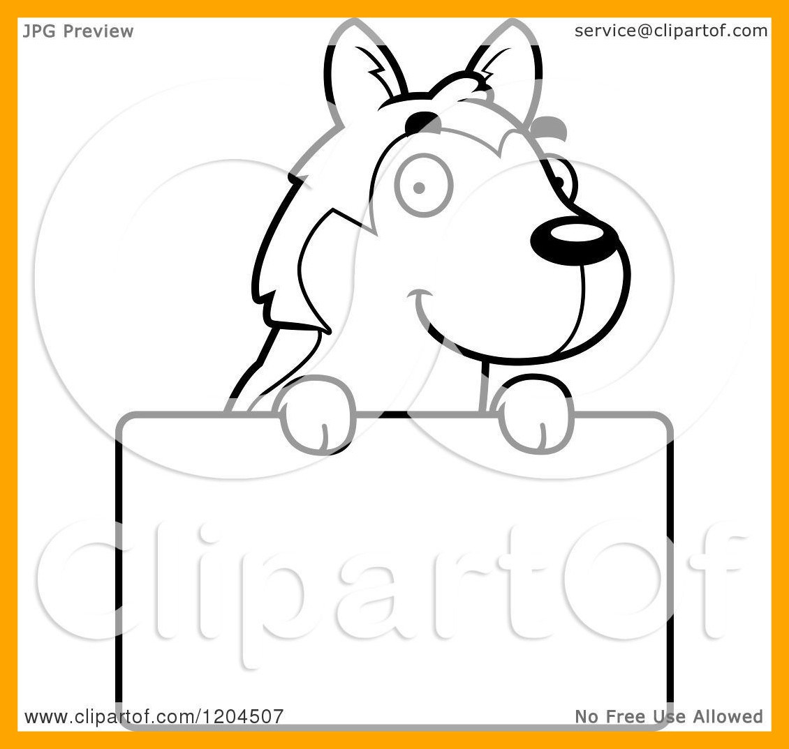 1130x1074 Shocking Cartoon Of A Black And White Cute Husky Puppy Dog Over