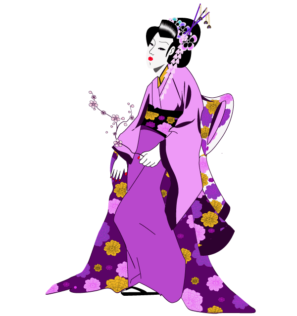 600x640 Japan Clipart Geisha