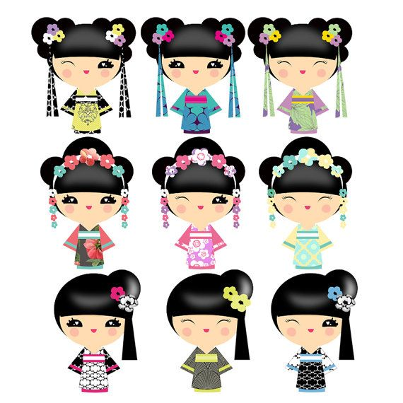 570x570 85 Best Geisha Kokeshi Clip Art Images By Maria Vycky Swearingin