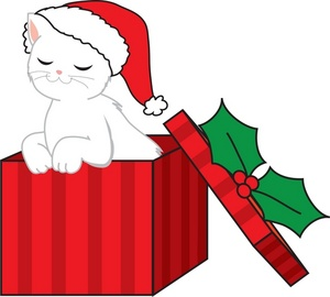 300x270 Kittens Clipart Christmas