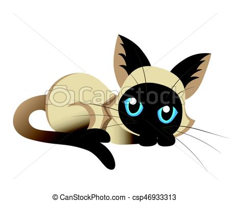 450x395 Siamese Cat The Lovely Kitten With Blue Eyes Fluffy On A Vector