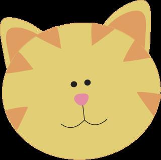 320x318 Cat Face Clip Art Yellow Cat Face