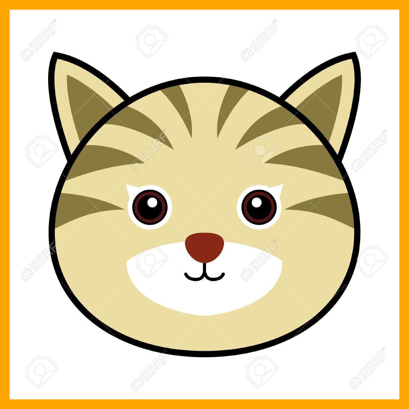 1364x1364 Fascinating Cat Cartoon Clip Art Cute Face Vector Material Png